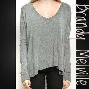 Brandy Melville JK 18 Gray Tunic Sweater
